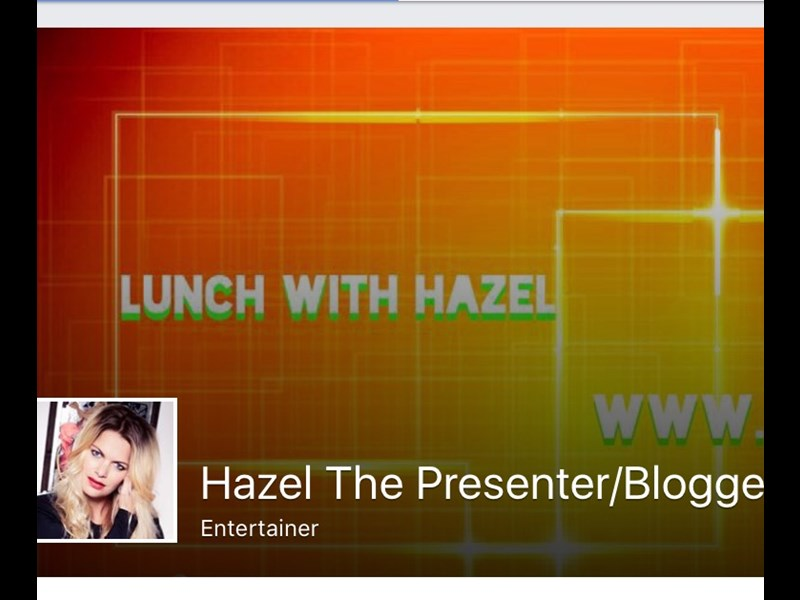 Don't forget to check out my New Facebook Page! 'Hazel The Presenter'.